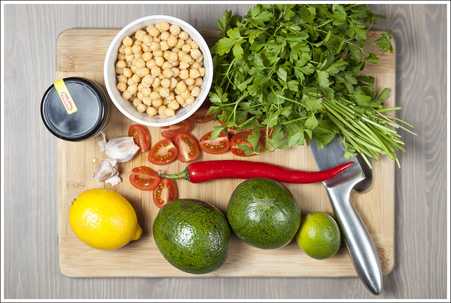 hummus i guacamole
