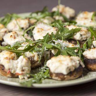 Funghi al forno ripieni di ricotta, czyli pieczone grzyby faszerowane ricottą