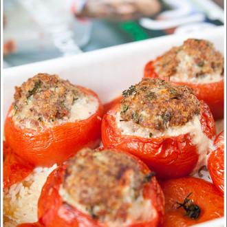 Faszerowane pomidory po prowansalsku